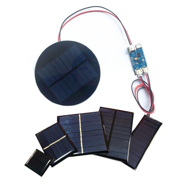 الجملة دقيقة لوحة طاقة شمسية 0.5 فولت 1 فولت 2 فولت 3 فولت 4 فولت 5 فولت 80MA 100MA 120MA 130MA 160MA الخلايا الشمسية لتقوم بها بنفسك الطاقة الشمسية مع شاحن يبو الشمسية