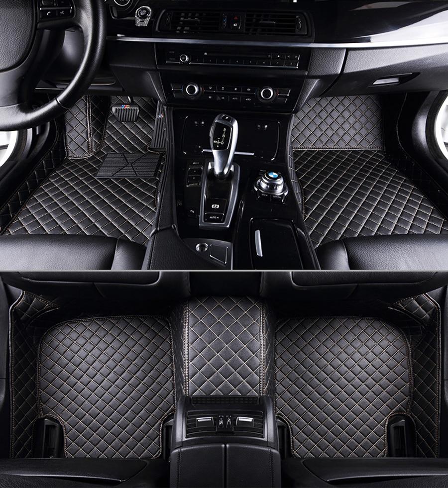 Автомобильный напольный коврик для ног bmw f10 x5 e70 e53 x4 x3 e83 x1 f48 e90 x6 e71 f34 e70 e30, водонепроницаемые аксессуары, левый руль