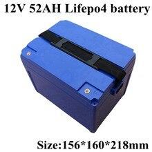 Batería de litio 12V 52Ah 50ah Lifepo4 32700 Paquete de batería para Ebike e-scooter E-Silla de Ruedas de almacenamiento Solar caravana Marina + cargador