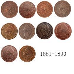 Индийская голова 1881-1890 лет доступны центовые медные копии монет