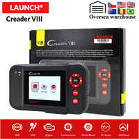 Launch X431 Creader 8 Code Reader Support 4 System With ERP Oil Reset SAS Functions Free Update Online Creader VIII NT650