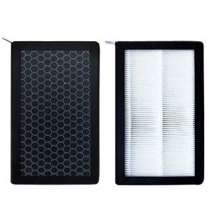 Para tesla modelo 3 ar-filtro hepa 2 pacote com carvão ativado ar condicionado substituição cabine de ar-filtros