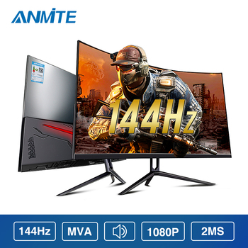 Anmite-Monitor curvo para videojuegos, HDR, 32, 144hz, FHD, 1920x1080, pantalla HDMI, Ultra estrecho, bez