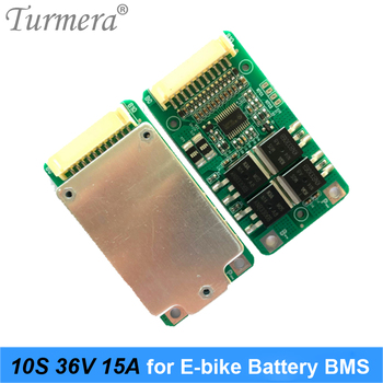 Turmera 10S 36V 15A 18650 Li-ion Battery BMS for Electric Bike and E-scooter 36V 42V 20Ah 90Ah Battery Pack Use PTC with Balance image
