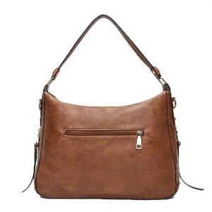 Image 3 - 럭셔리 가방 핸드백 여성 유명 브랜드 2021 유럽과 미국 여성용 메신저 가방 Hobos 디자이너 핸드백 Lady sac bolsa