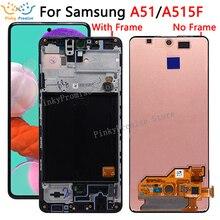 Pantalla táctil LCD de 6,5 pulgadas para Samsung Galaxy A51 con montaje de Sensor para Samsung A515 LCD A515F A515F/DS,A515FD A515FN/DS