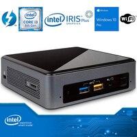Intel NUC NUC8i3BEK Мини ПК двухъядерный i3-8109U DDR4 M.2 SSD Windows 10 Pro Wifi Bluetooth 4K Поддержка настольного игрового компьютера