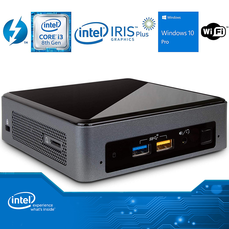 Intel NUC NUC8i3BEK Mini PC Dual-Core i3-8109U DDR4 M.2 SSD Windows 10 Pro Wifi Bluetooth 4K Support Desktop Gaming Computer image