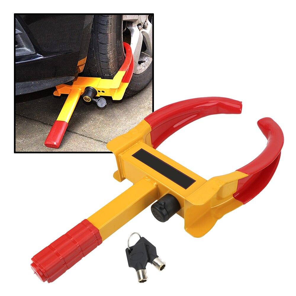 LEEPEE Portable Car Truck Tire Lock Anti Theft Lock Heavy Duty Car Wheel Clamp Universal Car Accessorie|Tire Accessories| |  - title=