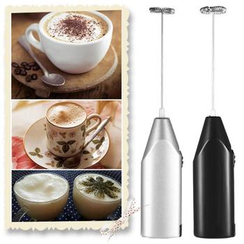 Mikser mieszadło kawa Cappuccino Creamer Whisk spieniacz mieszanka Whiskers elektryczny spieniacz mleka trzepaczka do jajek kuchnia napój trzepaczka do piany tanie i dobre opinie Aihogard CN (pochodzenie) STAINLESS STEEL