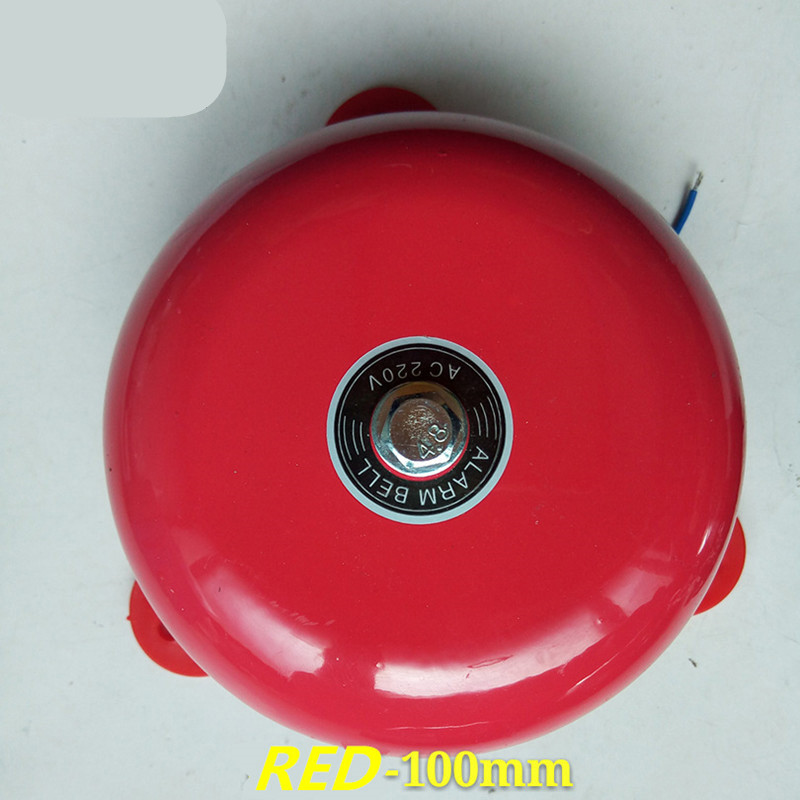 """AC 220V School Factory Fire Alarm 150mm 6/"""" Dia Stainless Steel Electric Bell"""