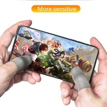 Upgrade dedo do telefone móvel pubg suor luvas de jogo tela toque polegar manga para fortnite gatillos controlador dedo respirável