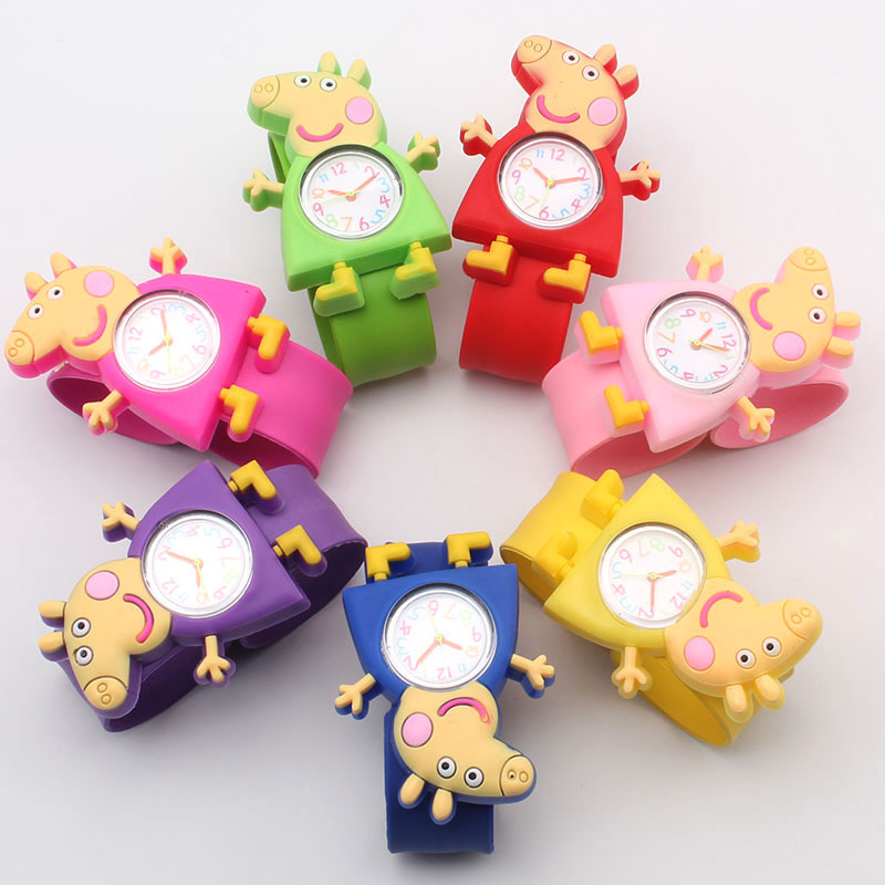 Cute Cartoon Children's Watch Quartz Watch Piggy/Pec Children's Watch Hot Kids Watch Christmas Gift
