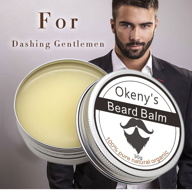 New Brand Beard Balm Men Beard Oil Hair Growth Wax Product Conditioner Organic Ingredients Mustache Moisturizing 30g image