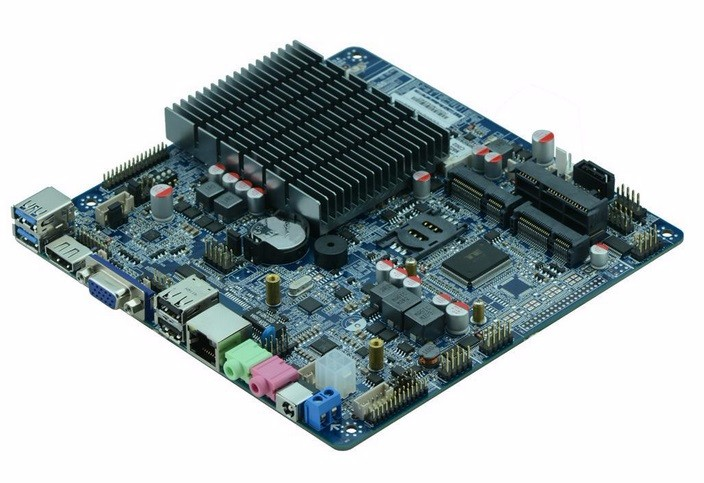 Fanless Bay Trail J1900 Motherboard Mainboard With MSATA,Mini-PCIE Untra Thin Motherboard DC12v