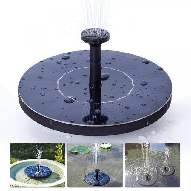 Mini Floating Solar Power Fountain Garden Decoration Water Fountain