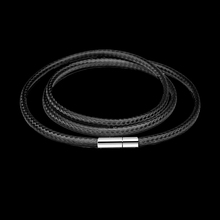 Necklace Connectors Cord Wax-Rope Jewelry Lace-Chain Clasp Stainless-Steel DIY Black