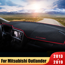 Car Dashboard Cover Mat Sun Shade Pad Instrument Panel Carpet For Mitsubishi Outlander 2013 2015 2016 2017 2018 2019 Accessories