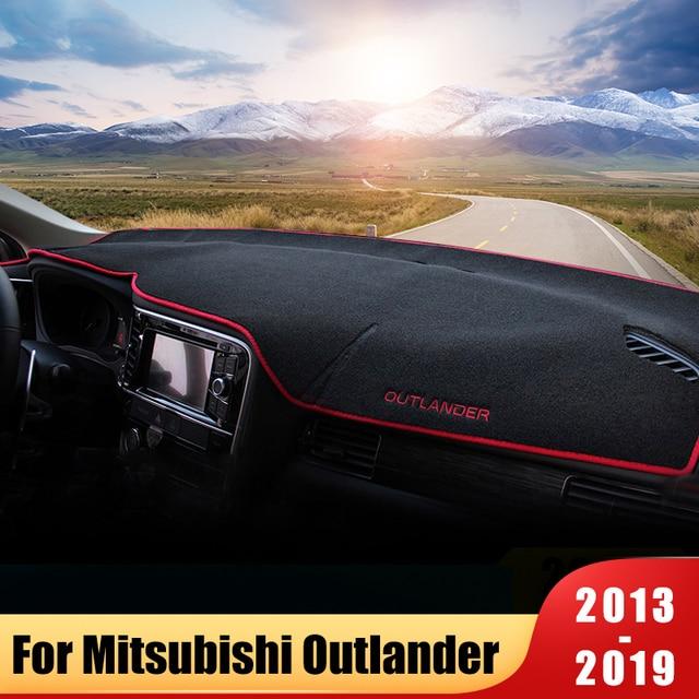 Cubierta para salpicadero de coche, alfombrilla tipo almohadilla de parasol, Panel de instrumentos, alfombra para Mitsubishi Outlander 2013 2015 2016 2017 2018 2019 Accesorios