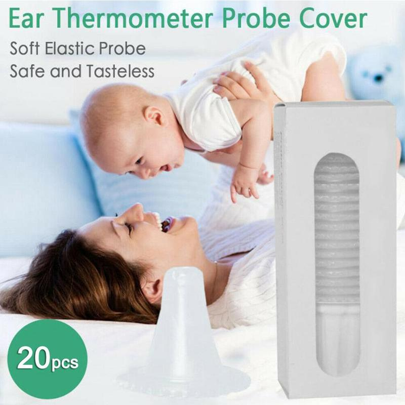20pcs/pack Disposable Ear Thermometer For Braun Thermoscan Replacement Lens Filters Probe Cover Ear Thermometer Ear Muffs