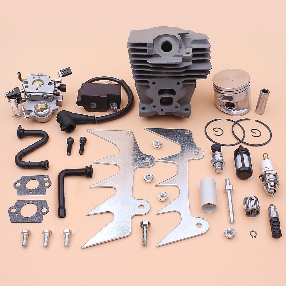 47mm Cylinder Piston Carburetor Ignition Coil Kit For Stihl MS362 MS 362 Felling Dog Chain Catcher Fuel Oil Filter Line