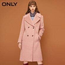ONLY Осень Зима Женский костюм воротник двубортное шерстяное пальто куртка женское  11834S512
