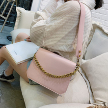 Fashion Woman Shoulder Bag Solid Color Female Temperament Candy Color Bag Small Fresh Youth Literary Pu Leather Texture Bag Pink single shoulder bag sports bag satchel female broadband 2017 new small korean woman student bag literary small fresh