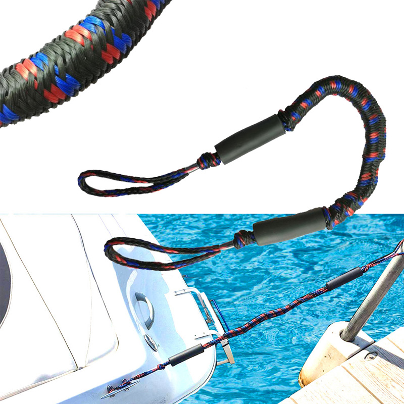 4.5 Foot Marine Mooring Elastic Rope Boat Bungee Dock Line Anchor Rope Anchoring Docking For Yachts And Motorboats Safety Ropes