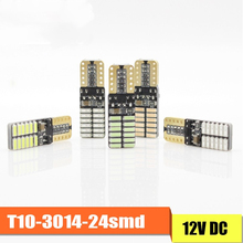 t10 w5w silicone case cob led car wedge interior light wy5w 194 501 auto parking trunk bulbs turn side lamps canbus error free COB 24SMD 4014 T10 Led Canbus W5W Error Free 12V 5W Car Turn Signal Indicator Light Parking Lamps Side Wedge Clearance Lights
