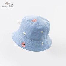 DBM13521 דייב bella אביב תינוק בנות הדפס פרחוני כובע ילדי בוטיק כובע