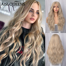 AISI QUEENS Lace Wigs for Women Blonde Long Wavy Front Synthetic Lace W