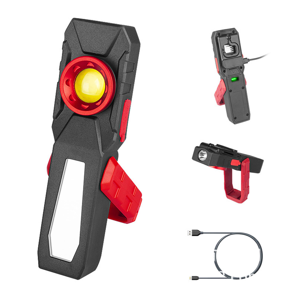 COB 4000LM LED Work USB Rechargeable Flexible Magnetic Inspection Lamp Flashlight Emergency Working Light