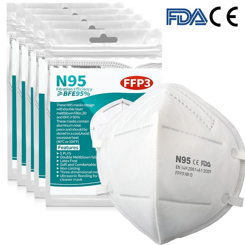 10-200PCS Mask 6 Layer Ply Filter Mask Mouth Face Mask 99% Filter Safe Breathable Dustproof Protective Masks