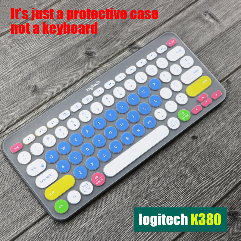 Keyboard Protector Ultra Thin Silicone Laptop Keyboard Cover Skin Protector For Logitech K380 Keyboard