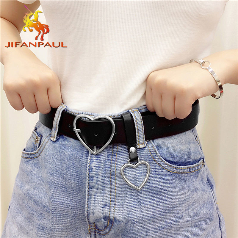 Genuine leather ladies high quality alloy love pin buckle fashion retro belt dress jeans decorative ladies cute belts 2021 New