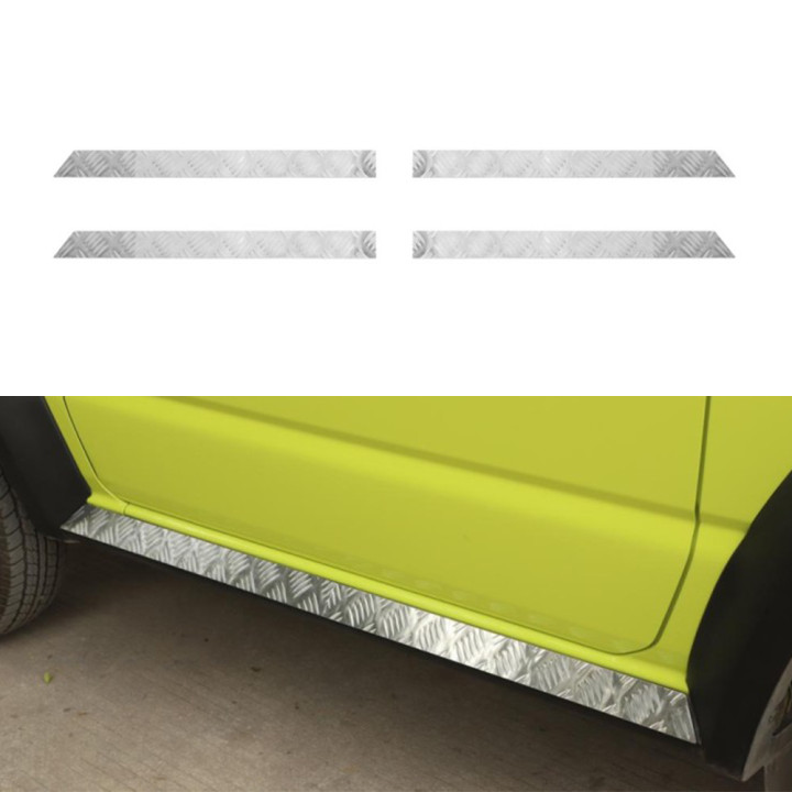 For Suzuki Jimny 2019 2020 Car Door Sill Scuff Plate Protector Stainless Steel Pedal Car Exterior Accessories Silver/Chrome