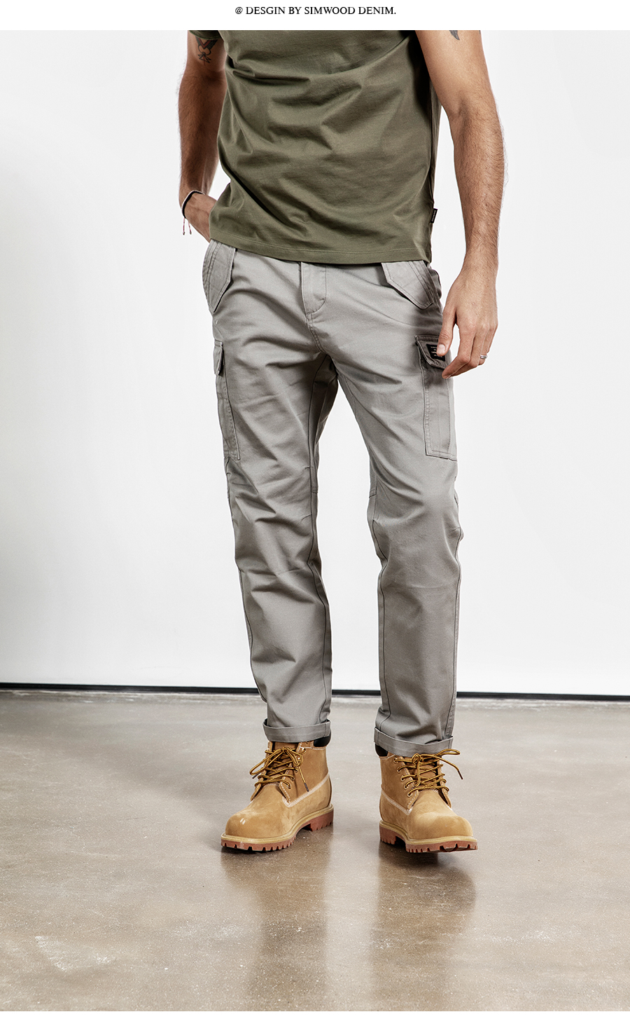 H8a2f631be68d4704beb39b9da3005889X SIMWOOD New 2019 Casual Pants Men Fashion track Cargo Pants Ankle-Length military autumn Trousers Men pantalon hombre 180614
