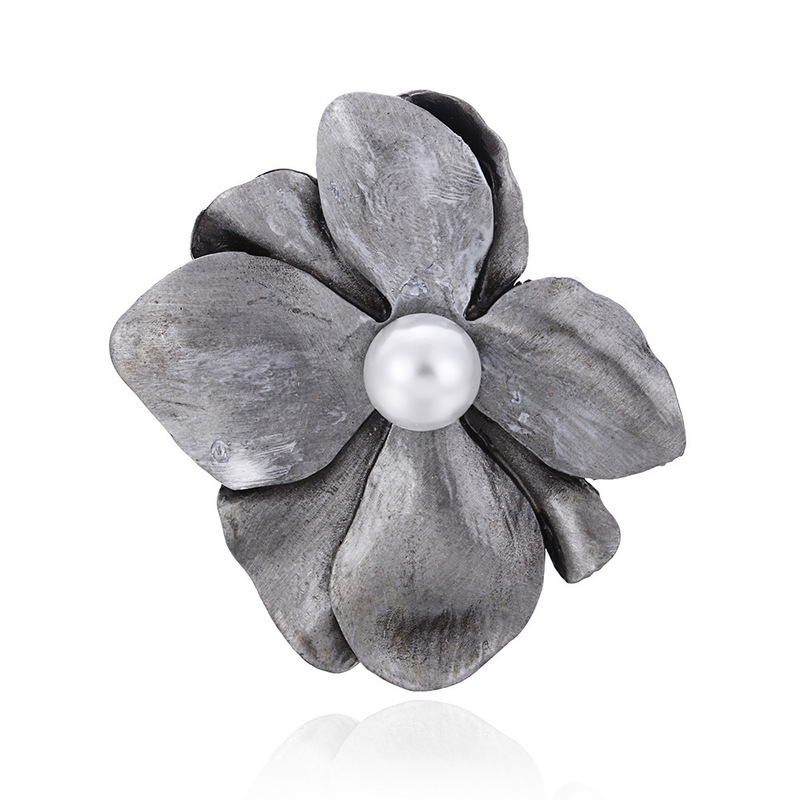 Clothing Alloy Clovers Corsage Shell Pearl Brooches Accessories CLOVER JEWELLERY