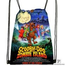 Индивидуальная походная сумка на шнурке Scooby Doo Team Up, милый рюкзак для детей(черная спинка), 31x40 см#180531-04-51
