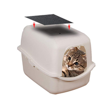 Древесный уголь кошки коробка для мусора Сменный фильтр с капюшоном кошки коробки для мусора сковородки углеродные фильтры запаха MYDING