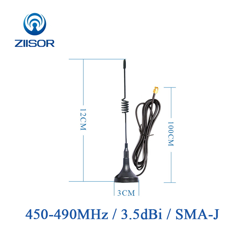 450MHz Antenna With Magnetic Base 490MHz Omni Antenna SMA Male 470M Aerial TX470-XPL-100
