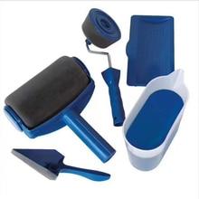 Краска бегунок ручка роликой щетки инструмент Флокированный Edger офисная комната настенная краска ing домашний инструмент кисть, валик набор