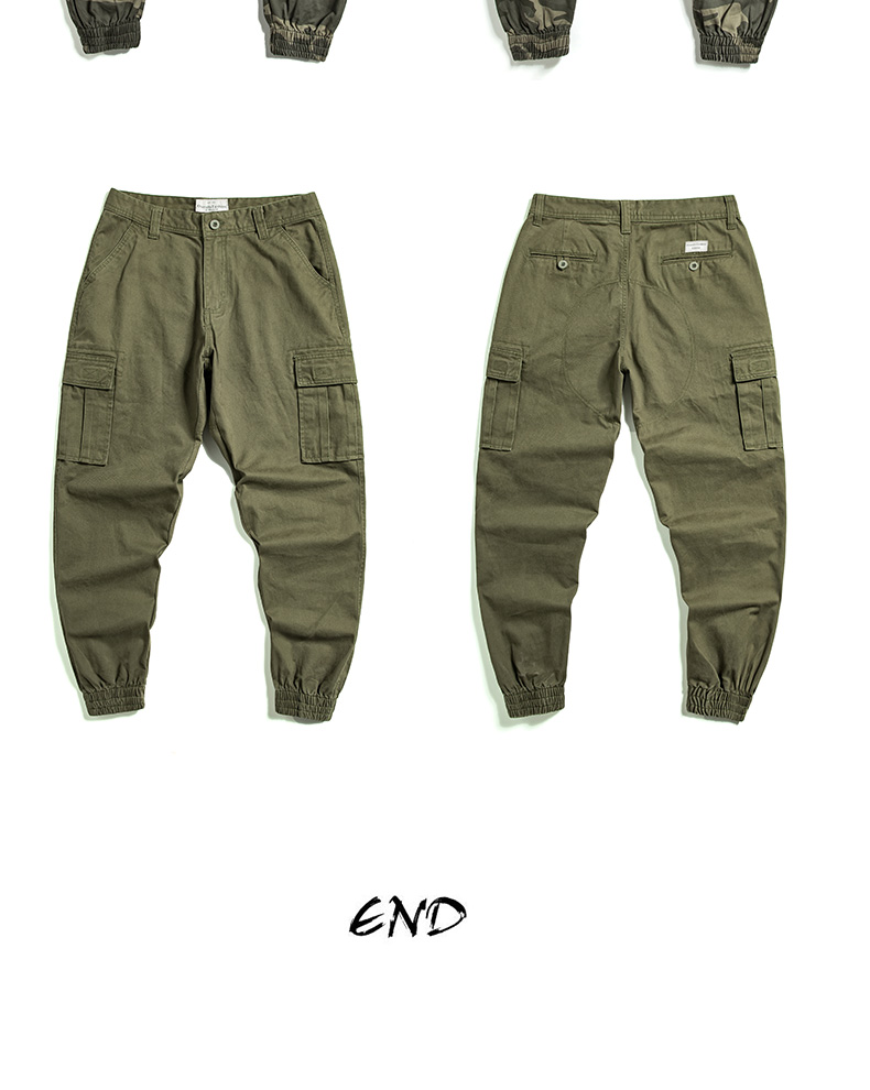 KSTUN Cargo Pants Men 100% Cotton Baggy Military Pants Khaki Camouflage Pants Casual Man Trousers Loose fit Streetwear Men Joggers 28