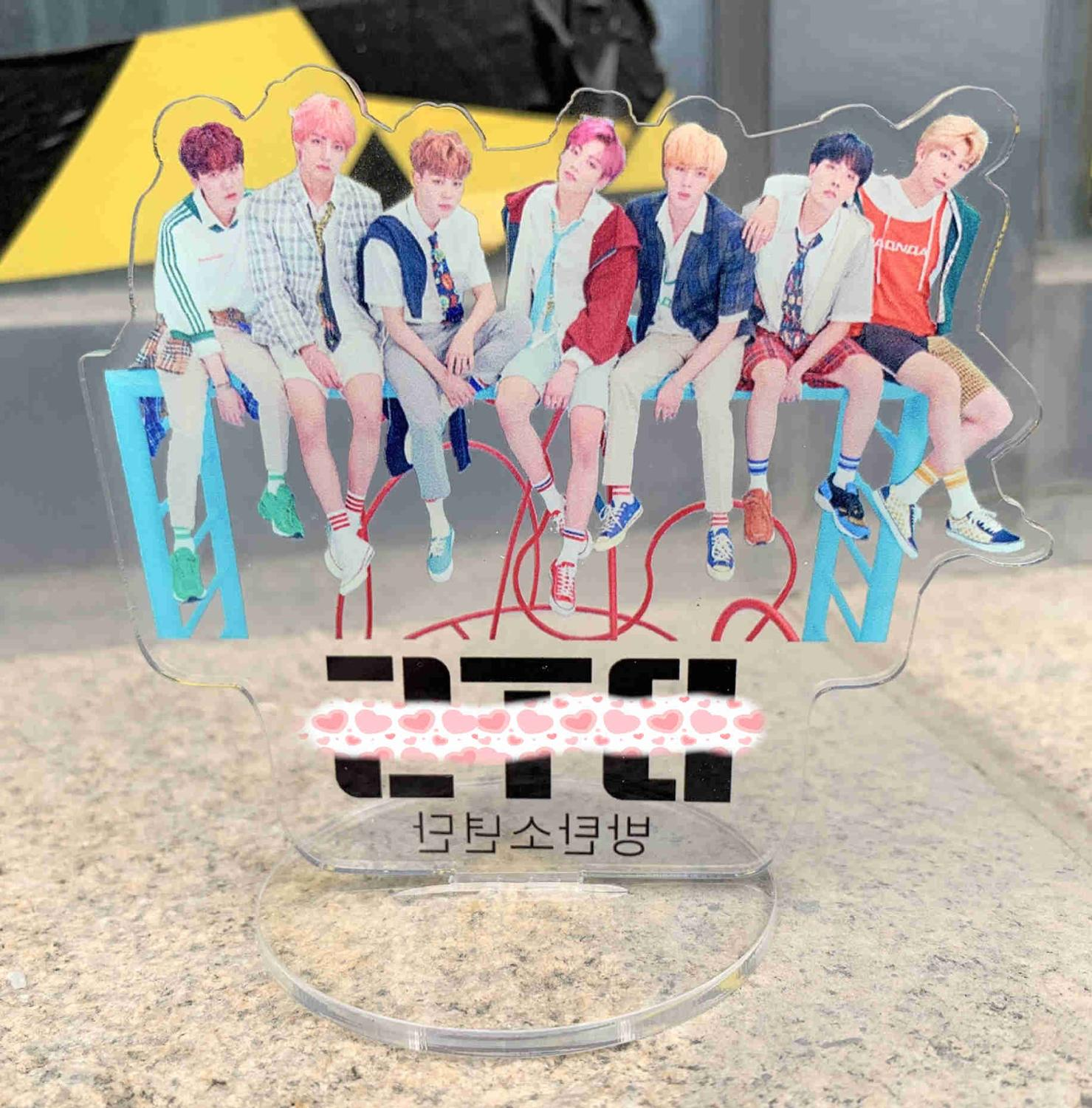KPOP Idol Toys RM V JIN JIMIN SUGA JUNG KOOK J-HOPE Acrylic Stand Model  Action Figure Doll Toy Gift