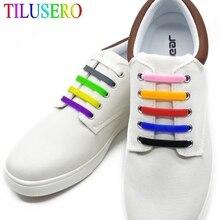 16pcs/lot Shoes Accessories Novelty No Tie Shoelaces Unisex