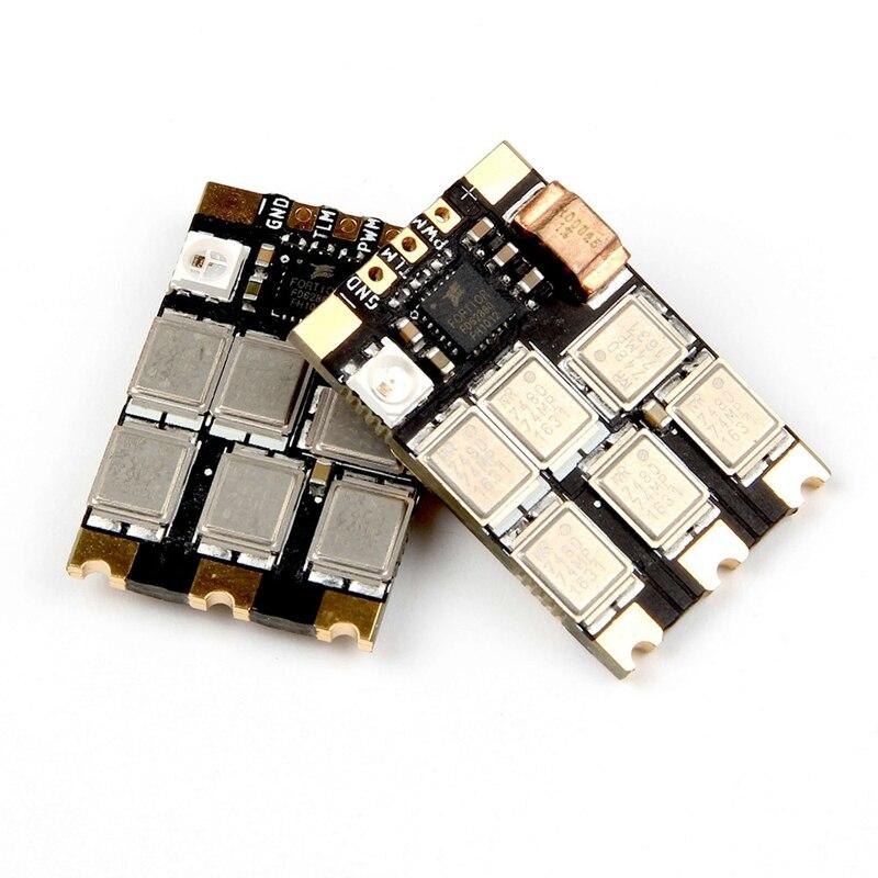 HOLYBRO 4 pièces Tekko32 F3 Métal ESC 65A BLheli 32 DShot1200 3 6S ESC W/F3 MCU et LED pour Drone RC - 4