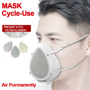 Image 1 - Air Purifier Respirator Electric Mask Dustproof Portable Oxygen Machine Mouth Mask Face Protective Mask Filter Dust Mask