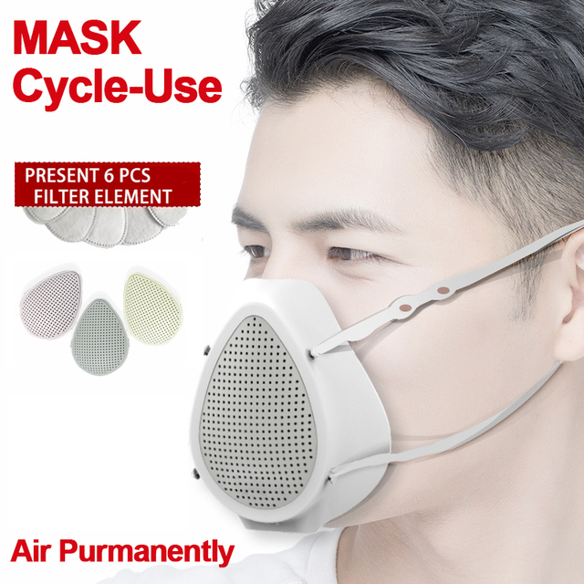 Air Purifier Respirator Electric Mask Dustproof Portable Oxygen Machine Mouth Mask Face Protective Mask Filter Dust Mask