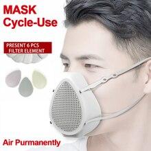 Masque respiratoire électrique, purificateur dair, anti poussière, Machine à oxygène Portable, masque de protection faciale, filtre