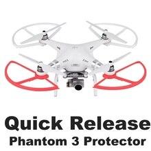 4PCS Quick Release Elica Protector Guard per DJI Phantom 3 Phantom 2 Drone Respingente della Lamierina Puntelli Ala di Protezione di Ricambio parti